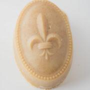 Serenity Soapworks Fleur De Lis Oval Goat milk soap