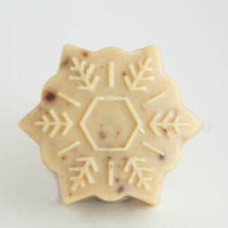 Serenity Soapworks Small Snowflake Goat Milk Soap Winter Holiday Soap