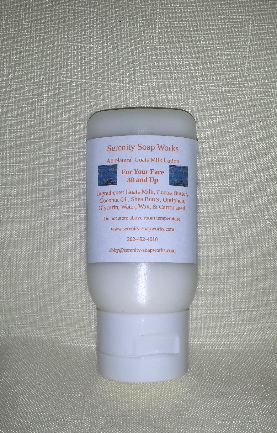 Lotion For Your Face Thirty and Over Serenity Soapworks